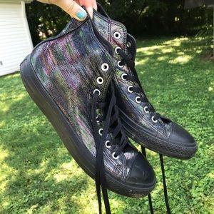 RARE Rainbow Metallic Converse